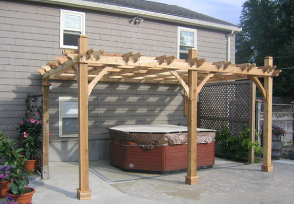 12\'x16\' Attached Breeze Pergola